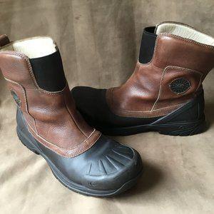 Ugg Australia Stout Brown Leather Snow Duck Boots Black Vibram Sole